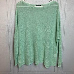 Eileen Fisher Crochet Linen Long Sleeve Sweater